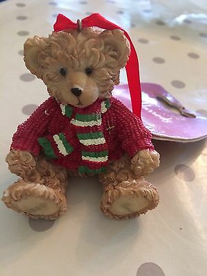 Harrods 2010 Bear Christmas Tree Decoration Archie Resin BRAND NEW WITH TAG