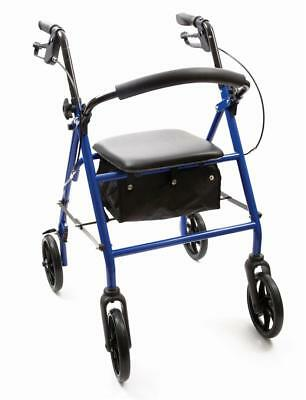 NRS 4 Wheel Rollator - Blue