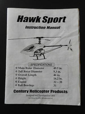 Hawk Sport Instruction Manual - Century Helicopter Products - 2nd Edition Nov 02