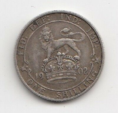1902 King Edward Silver Shilling