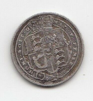 1816 King George Silver Sixpence