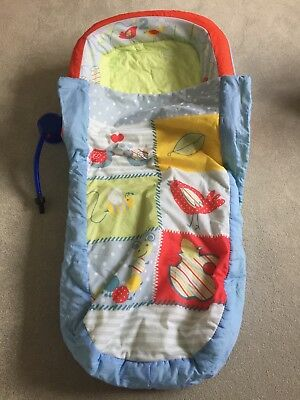 My First Readybed - inflatable bed with built in sleeping bag. Pump & carry bag