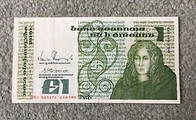 Central Bank of Ireland One Pound (£1) Note