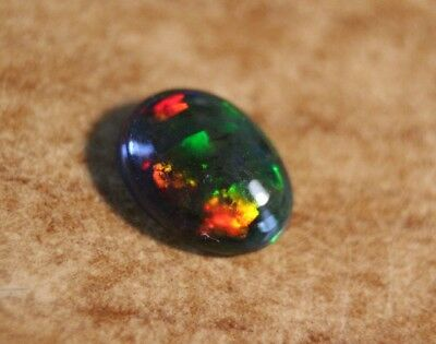 1.02ct Welo Black Opal Cabochon - Rainbow Harlequin AAA Opal - See Video
