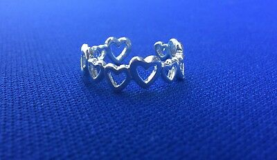 Heart Toe Ring Silver Adjustable Brand New with Organza Gift Bag.