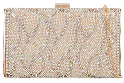 Ladies Vintage Beaded Hard Case Clutch Bag Spedial Design Wedding Prom Events