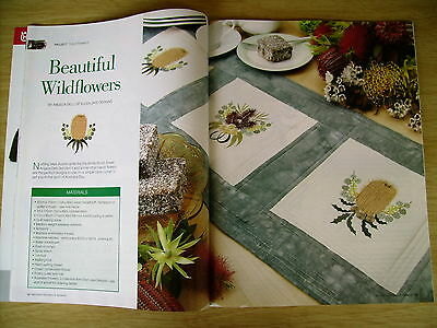 Machine Embroidery & Textile Art Vol 14 #2~Aussie Quilt~Cod~Diamond Quilt~Tote..