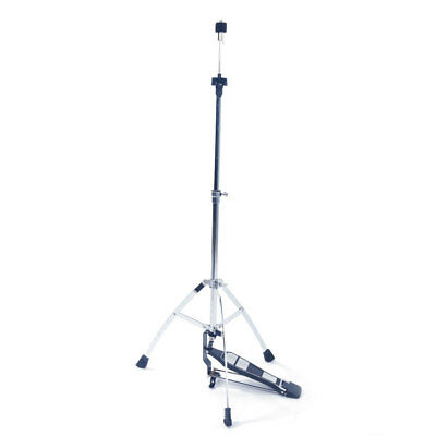 Drum Hi-Hat Stand with Pedal Cymbal Silver Tripod Workshop Portable for Drum