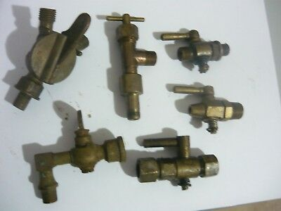 5 Old Brass Valves Small