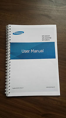 Printed Samsung Galaxy S6 Instruction Manual / User Guide SM-G920F Full Colour