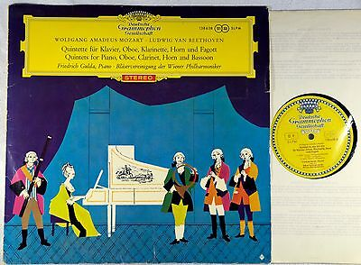 Mozart Quintets for Piano, Oboe, Clarinet, Horn Gulda SLPM 138 638 RED STEREO LP
