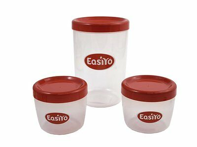 Easiyo Extra 1Kg Yoghurt Jar And 2 Lunchtakers For Use With Red Yogurt Maker