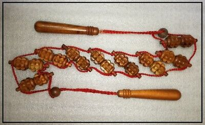 Herbal Wood - Wooden Rolling Back Spine Massager - Made In India