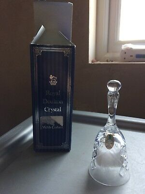 Royal Doulton Crystal Glass Bell with glass clanger and Rolls Royce Emblem - box