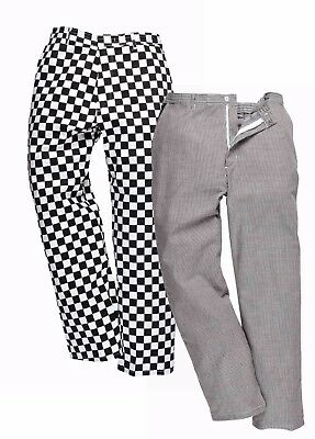 Portwest S068 Harrow Mens Chefs Trousers Polycotton Work Pants Catering Workwear