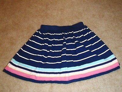 Carters girls skort, blue with pink/multicolor stripes, size 6x