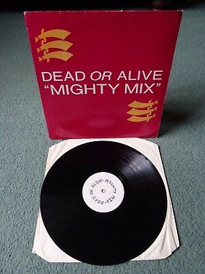 """Dead Or Alive Mighty Mix 12"""" Vinyl White Label UK Promo XPR1257 Play Graded"""