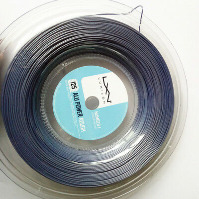Luxilon Alu Power Rough Best Polyester Tennis Strings,1.25Mm Reel Silver Color