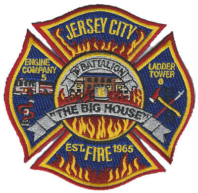 Jersey City Fire Dept. Engine 5  The Big House (New Oct 2017) Fire Patch