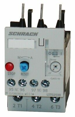 Thermal Overload Relay 20-25A Size 0, SCHRACK LST02500 (Siemens 3RU1126-4DB00)