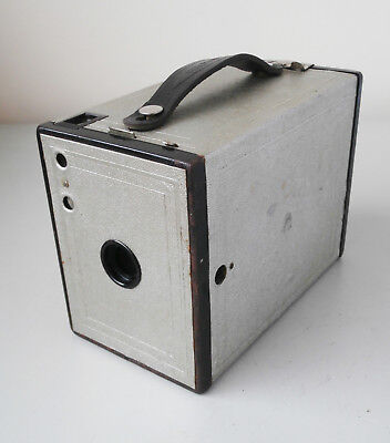 Vintage Kodak Brownie No2 Model F Box Camera Silver Jubilee of King George V