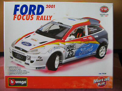 Maquette Ford Focus Rally 2001 Métal Kit 1:18 - Burago