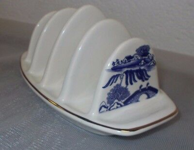 Ringtons Blue and White Willow Pattern Toast Rack