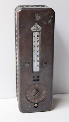 Vintage Military German Thermometer SIEMENS With Signal Light Alarm Mechanism