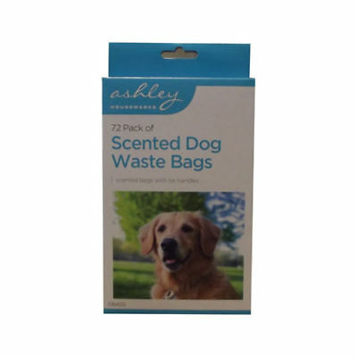 350 Scented Poo Bags with Tie Handles | Ashley Housewares Dog Waste Bags