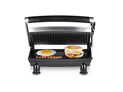 NEW Sunbeam Compact Cafe Grill GR8210 ( Compact BBQ Grill & Sandwich press)