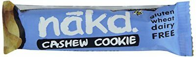 Nakd Cashew Cookie Gluten Free Bar 35 g  Pack of 18