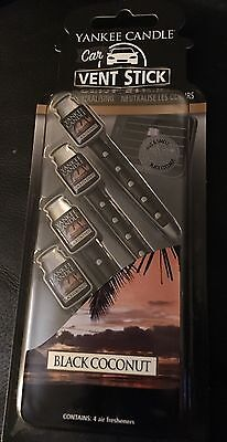 Yankee Candle Car 4 Pack Black Coconut Vent Sticks Air Freshener
