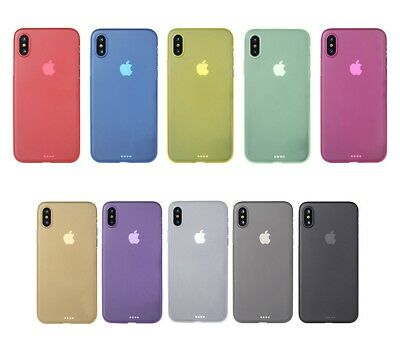 100 X Ultra Slim Thin Matte Frosted Cases for iPhone X Wholesale Bulk Buy JobLot