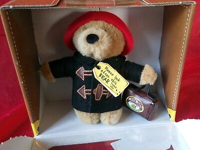 "Marmite Paddington Bear limited edition soft plush toy 5"" with suitcase , Boxed"
