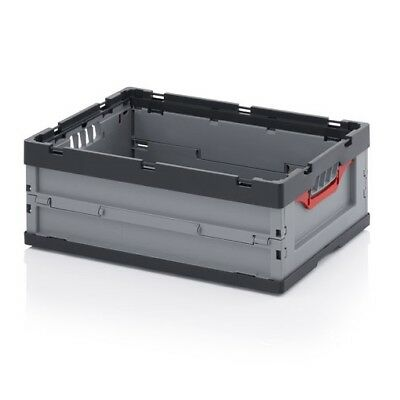 Professional Catering Box 60x40x22 Exhibition Tank Stackable Foldable Plastic