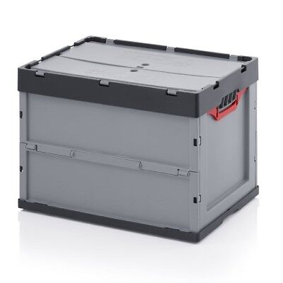 Professional - Tank Collapse 60x40x42 M Lid Plastic Crate Stackable Foldable