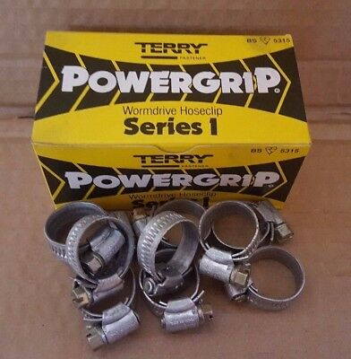 JOBLOT 90 x FASTENER POWERGRIP JUBILEE HOSE CLIPS CLAMP WORMDRIVE 13mm to 20mm