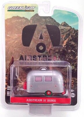 1/64 Greenlight Airstream 16' Bambi Sport W/ Red Accents