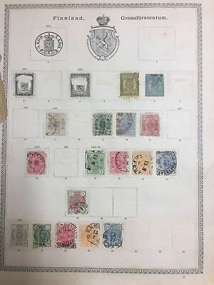 FINLAND stamps - 1866 onwards - album page useful lot 11
