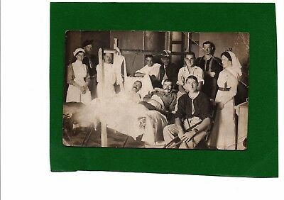 WW1 Real Photo Postcard Nurses & Wounded Soldiers Valletta Malta 16th Nov 1915