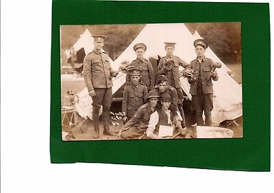 WW1 Real Photo Postcard Soldiers Royal Sussex Regiment at Worthing Camp