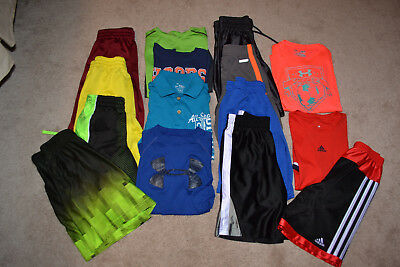 Lot of 15 Boy's shirts/shorts, size 7/8 (S), under armour & lots more
