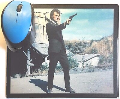 Dirty Harry Clint Eastwood Harry Guardino Robinson movie poster Mouse Mat #1 New