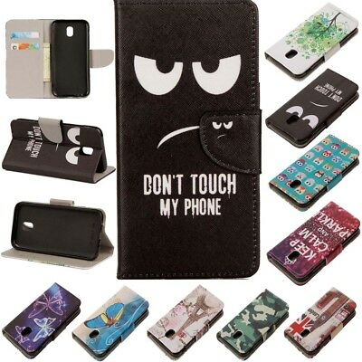 For Samsung Galaxy J3/J5/7 Pro Luxury Pattern Leather Wallet Magnetic Case Cover