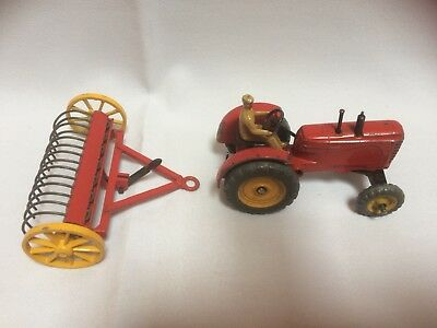 Dinky Toys. Massey-Harris Tractor And Hay rake