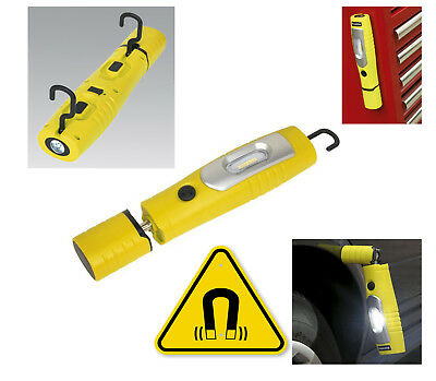 Sealey YELLOW Rechargeable 360° Inspection Lamp 350 Lumens SMD LED Li-ion
