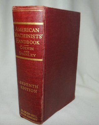 American Machinists' Handbook Colvin and Stanley 1940 Seventh Edition