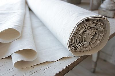Antique hemp material CUTTING metis linen + cotton fabric CUTTER washed 10.9yd