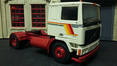 1/24 Volvo Turbo 6 P1225 Cab Over Truck Adult Built Model Found In Storage