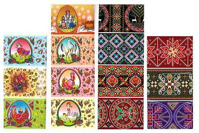 #21  Set of 14  Easter Egg Sleeves Wraps Pysanka  Pysanky Ornament